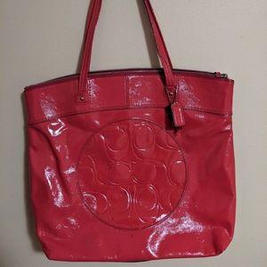Coach Pink Tote Bag